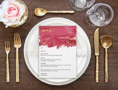 Burgundy and Gold Watercolor Menu Wedding Menu by MLBandCo on Etsy