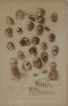 """""""Little Ethiopians:"""" 19th Century Photography of African Americans: """"Little Ethiopians."""" Cabinet card by Smith Studios, copyrighted 1881. PR 52, Portrait File, New-York Historical Society."""