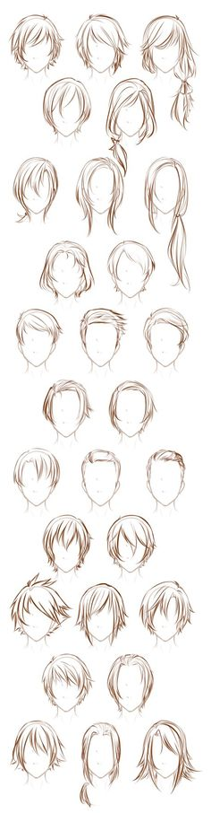 After sketching that sheet of Male Poses I decided to sketch out some of my male oc's hairstyles. Yes, that's not even all of them I may do a sheet for the girls sometime too. Maybe. If I'm no too ...