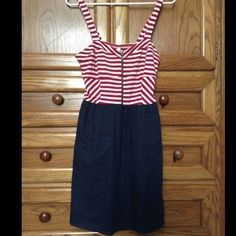 Xhilaration red/white/blue dress Brand new with tags! Perfect for any patriotic holiday! I bundle and my prices are negotiable! Xhilaration Dresses