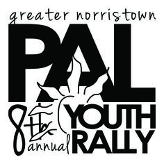 """""""Norristown PAL 8th Annual Youth Rally"""" Event Logo Design for Print on water bottles #logo #print"""