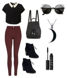 """""""Untitled #1"""" by mshelbaugh ❤ liked on Polyvore featuring Topshop, Clarks, rag & bone, Carolina Glamour Collection and NARS Cosmetics"""