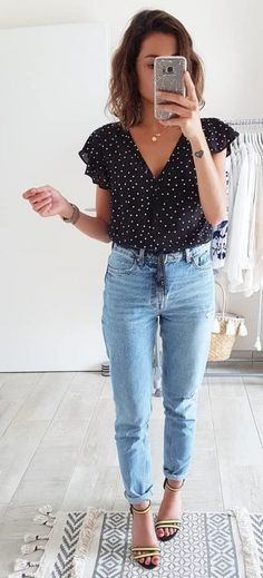 Summer Outfits to Copy Now 054 - Kleidung - Modetrends Casual Fall Outfits, Casual Dresses, Cute Outfits, Work Outfits, Trendy Outfits, Casual Shoes, Sweater Outfits, Chic Summer Outfits, Summer Dresses