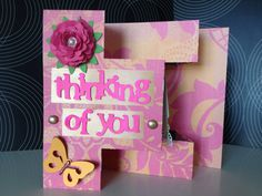 Thinking of You Greeting Card  ON SALE by JuliesElegantCrafts, $4.99. All cards are 30% off, or 47% off when you buy 3! All scrapbooking embellishments are 30-50% off! Free gifts with EACH item! Tons of freebies and giveaways! Hurry before the sale ends shortly!