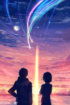 Beautiful anime movie - Your Name / kimi no na wa Film Anime, Anime Art, Mitsuha And Taki, Kimi No Na Wa Wallpaper, The Garden Of Words, Your Name Anime, Japon Illustration, Graphisches Design, Kairo
