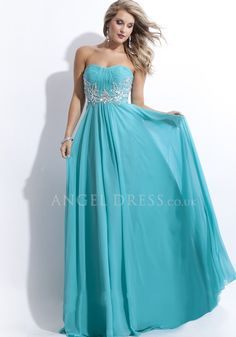Floor Length A line Scoop Natural Waist Sleeveless Chiffon Prom Gown