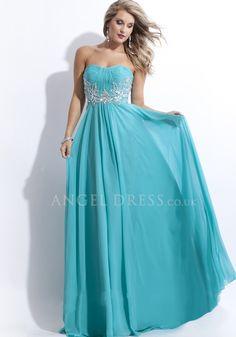 Floor Length A line Scoop Natural Waist Sleeveless Chiffon Prom Gown