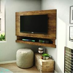 Interior Decoration Fabulous Walnut Wooden Base Corner Tv Mount Ideas For Family Room Decor Inspiration Endearing Corner Tv Mount Ideas For Your Interior Decor tv wall ideas tv corner wall mount ideas best buy tv mounts Corner Tv Mount, Corner Tv Stands, Corner Tv Stand Ideas, Tv Mounted In Corner, Tv Corner Unit, Tv Unit, Tv Lateral, Family Room Decorating, Interior Decorating