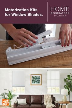 Pair your Home Decorators Collection shades with a motorized kit exclusively from The Home Depot. Buy Windows, Blinds For Windows, Window Awnings, Window Blinds, Sliding Glass Door, Glass Doors, Types Of Window Treatments, Cellular Shades, Modern Master Bedroom