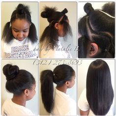 "Can your sew-in do THIS?! If not, you need to come see me...PERFECT PONY SEW-IN HAIR WEAVES by Natalie B. (312) 273-8693...IG: @iamhairbynatalieb...FACEBOOK: Hair by Natalie B. .....ORDER HAIR: www.naturalgirlhair.com. Hair Used: Malaysian Relaxed Natural in 16/18/20""...order it online at www.naturalgirlhair.com. More"