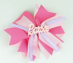 Boutique Hair Bow For GirlsLayered Spikes Barbie by SheWearsitWell, $9.00
