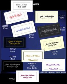 Senior high school graduation announcements at grad graduation name cards grad announcements filmwisefo