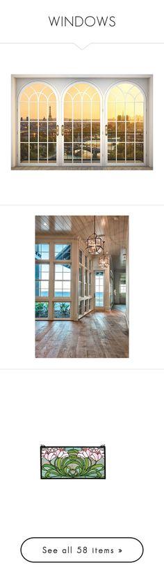 """WINDOWS"" by amara-m-hafeez ❤ liked on Polyvore featuring home, home decor, wall art, windows, backgrounds, art, parisian wall art, eiffel tower home decor, paris mural and window wall murals"