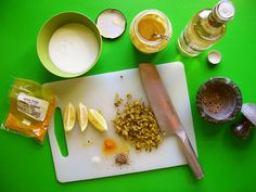 Putting a homemade tartar sauce together is easy: mix yogurt, pickles and white wine vinegar plus a few spices and you've got a delicious simple sauce for pankoed white fish on Dutch Night! Homemade Tartar Sauce, Mustard Pickles, Battered Fish, Ground Turmeric, White Wine Vinegar, Pickle Relish, Curry Powder, Kitchen Recipes