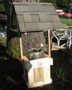 Homemade wishing well