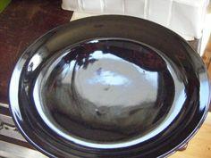 """Today's Home BLACK 10.5"""" DINNER PLATE NICE GLOSS -light Utensil Marks on Plate  #TodaysHome"""