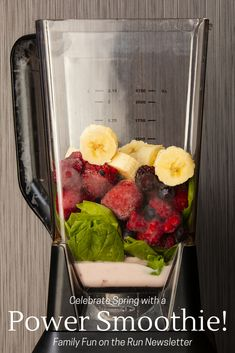 This spring, challenge yourself and your family to increase your activity and fruit and vegetable consumption. A easy way to get started is by enjoying this tasty power smoothie!