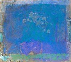 Pierre Lesieur (Paris 1922 - 2011). 'Abstraction bleue' 1998. Pastel sur bois.