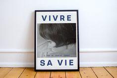 Vivre Sa Vie Anna Karina affiche 1962 Jean Luc par oldpostershop