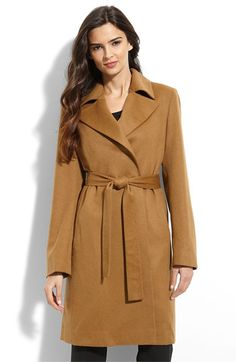 Fleurette Cashmere Wrap Coat (Petite) available at Nordstrom