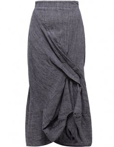 Grey Fine Wool Skirt