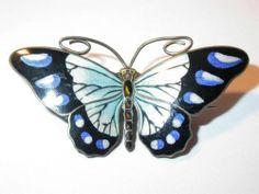 Vintage Art Deco Silver Enamel Butterfly Brooch C 1920 Marius Hammer   eBay