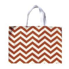 Brown Chevron Tote Bag Rust Brown Shoulder  Bag by AnyarwotStyle, $16.00