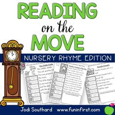 This Nursery Rhyme edition of Reading on the Move is a fun way to get students up and moving while working on reading fluency.