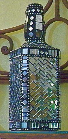 Mosaic bottle..beautiful