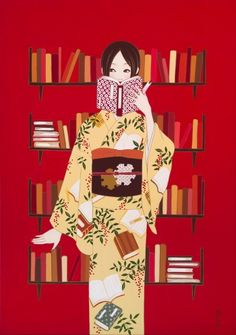 Hiromi Tsuji... this would be nice hanging in my little Asian inspired book nook :)