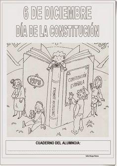 Cuaderno de trabajo para celebrar el Día de la Constitución Española, el 6 de diciembre, elaborado por Isidro Burgos Ramos de forma atractiva y sencilla para los más pequeños.