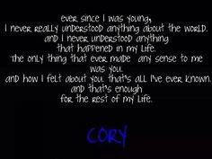 Boy Meets World ~Cory Matthews
