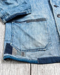 Japanese Denim, Vintage Japanese, Stitch Patch, Visible Mending, Indigo Dye, Sewing Techniques, Needle And Thread, Sewing Clothes, Fashion Details