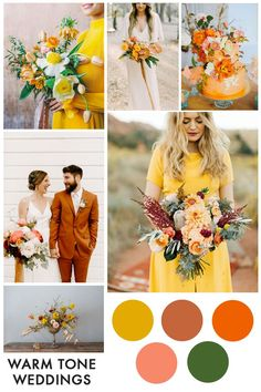 5 Hot Wedding Trends for 2019 - 2019 weddings are all about warm tones – yellow, orange, rust and of course the Pantone colour of the year Living Coral. Click through to find out the rest of this years trends. Mustard Yellow Wedding, Yellow Wedding Colors, Summer Wedding Colors, Wedding Color Schemes, Spring Wedding, Orange Yellow Weddings, Orange Weddings, Wedding Orange, Indian Weddings