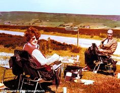Mackereth and Philip Larkin on one of their romantic picnics on the Yorkshire Moors in the 1970s
