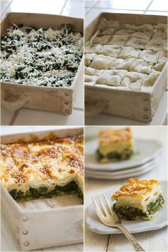 spankopita - spinach & haloumi cheese in Phyllo Dough - מאפה תרד פילו וחלומי (in hebrew)