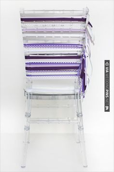 DIY purple tied wedding chair | CHECK OUT MORE IDEAS AT WEDDINGPINS.NET | #diyweddings