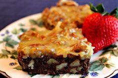 German Chocolate Brownies    http://sweetteaandcornbread.blogspot.com/2013/04/german-chocolate-browies.html