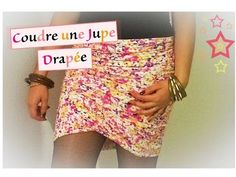 Tuto couture 23 - Coudre une jupe drapée - YouTube
