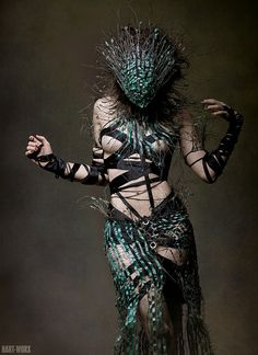 this is AMAZING Pale green wire outfit / WIRE.OUTFIT.REED by cexn on Etsy, $2203.00