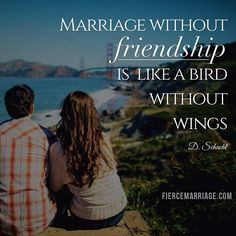 Marriage without friendship is like a bird without wings. -D Schacht