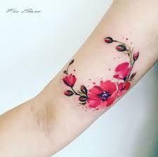 Resultado de imagen para tatuaje acuarela flores