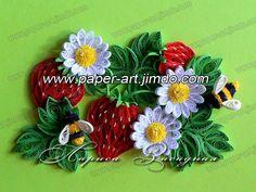 картины-квиллинг-цветы-бумага-клубнички.jpg 800×600 pixels