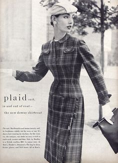 Plaid outfit.