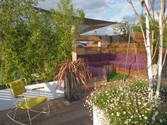 Plantscaping a Deck or Patio   Outdoor Spaces - Patio Ideas, Decks & Gardens   HGTV love the privacy plants and fencing and shade cover