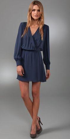 Parker Wrap Dress in Blue (navy) - Lyst
