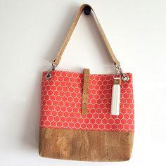 Organic Canvas + Natural Cork Grommet Bag (Assorted Patterns)