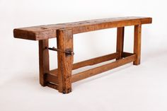 French Work Bench. Oak and Beach Wood. c. 1920