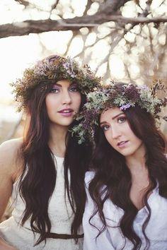 Purple boho bridesmaids