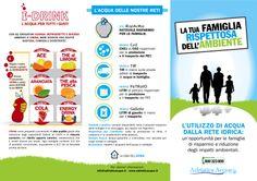 """Comunicazione rivolta alle Famiglie. I-Drink """"l'acqua per tutti i gusti"""". #idrink #sapori #succhi #acqua #risparmio #famiglie"""
